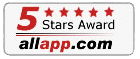 Glary Utilities 5 Stars Awards from allapp.com