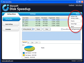 Disk SpeedUp Screenshots - Defrag a Folder