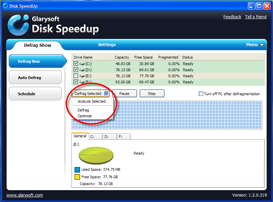 Disk SpeedUp Screenshots - Disk Defrag