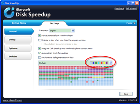 Disk SpeedUp Screenshots - Settings