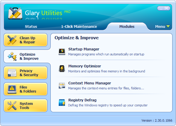 Glary Utilities Pro Screenshots - All-in-one System Utilities, Fast and Simple to use | Glarysoft